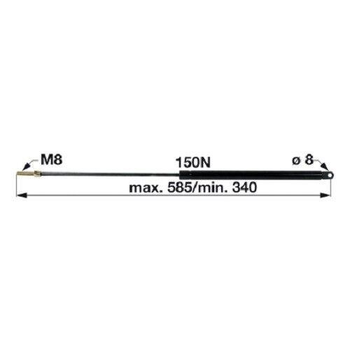 8100 8070 8080 Steyr Gasdruckdämpfer Heckscheibe SK1 Kabine 8060 8120 8110