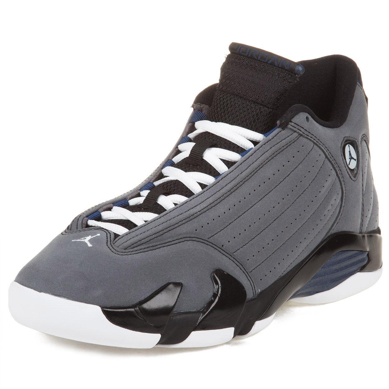 Nike Uomo Air Jordan 14 Retro Light Graphite/Mid Navy 311832-011 Size 10