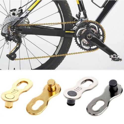 2pcs Speed Bike Chain Silver//Gold Links Road and Mountain Bicycle S
