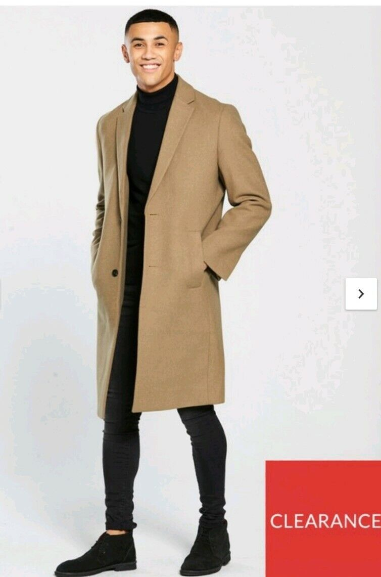 Longline Wool Mix overcoat size XL new with tags