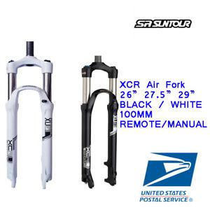 "Suntour MTB Forks XCR Standard /& Remote Lockout 1 1//8/"" Threadless 100mm 26/"""
