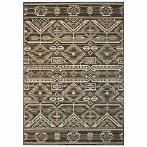 vidaXL-Vloerkleed-Binnen-Buiten-140x200-cm-Sisal-Look-Geometrisch-Kleed-Mat