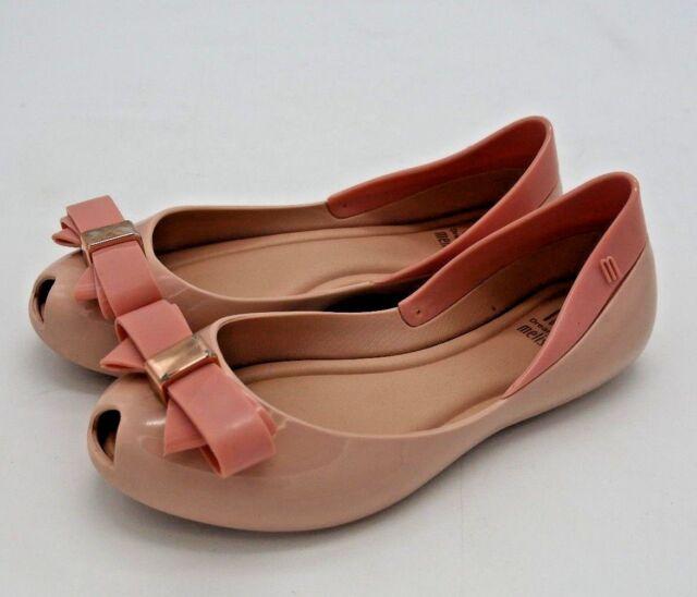 Mini Melissa Girls Shoes Queen Iv Bow Ballet Flats Black