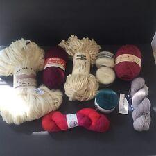 LOT OF 9 LUXURY SKEINS MOHAIR,MERINO,MALABRIGO,Maine Homespun,New zealand Wool.