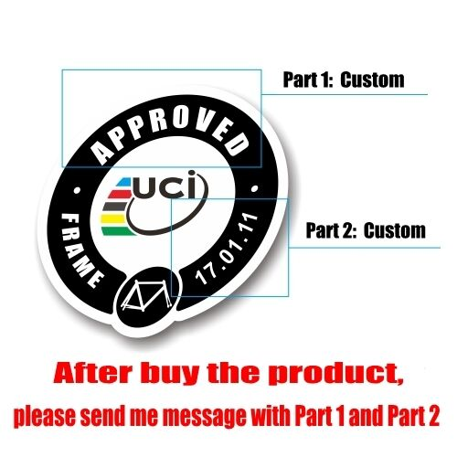 4×UCI WORLD TOUR Custom Stickers Top Tube Frame Decals MTB Road Bike Bicycle