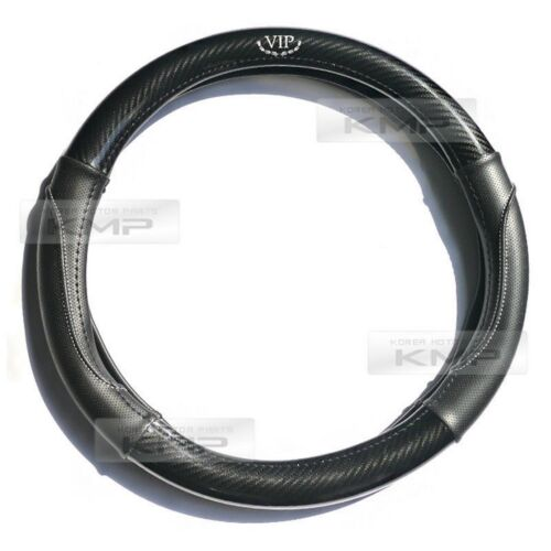 Carbon Steering Wheel Cover Glossy Urethan 370mm for HYUNDAI 2016-17 Tucson
