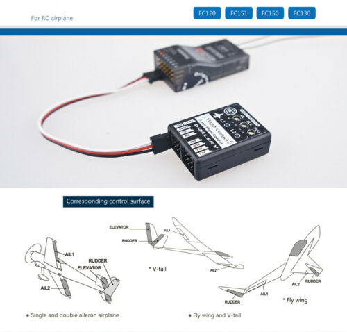 3-Axis Accelerometer FC151 6-Axis Flight Control for RC Airplane 3-Axis Gyro