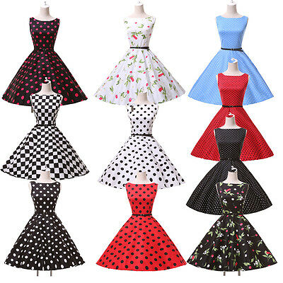 CHEAP! Vintage 60s Housewife Retro Pinup Rockabilly/ Evening/ Swing/ TEA Dresses