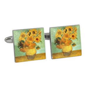Art-Masters-Van-Gogh-Sunflowers-Cufflinks-BNIB