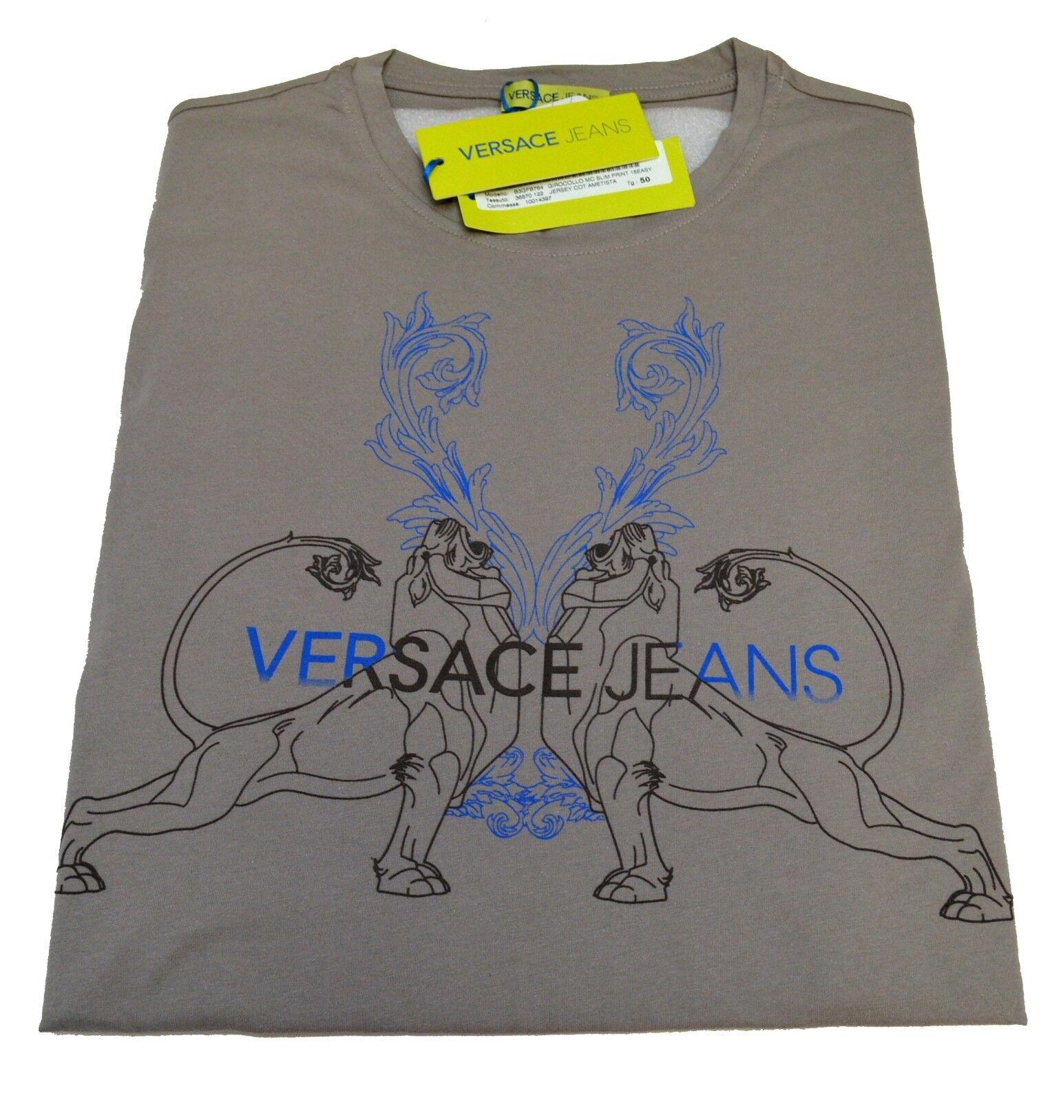 T-shirt Gianni Versace Jeans Men  Fashion T-shirt Mens Jersey Cotton Nwt