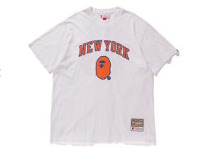 12bba2ae9a7 BAPE x Mitchell and Ness New York Knicks T-Shirt NWT A Bathing Ape ...