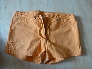 Sommer-kurze-Hose-Hotpants-Gr-188-L-orange-Baumwolle-sexy-beat-wear-anschauen