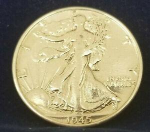RARE-1945-LIBERTY-WALKING-SILVER-HALF-DOLLAR-HI-GRADE-U-S-COIN-90-Silver