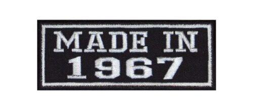 MADE in 1967 Biker Patch ricamate MC year of Birth anno di nascita fondata nel numero