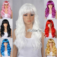 Halloween Fancy Dress Lady Long Curly Full Hair Wigs Cosplay Costume Party Wig