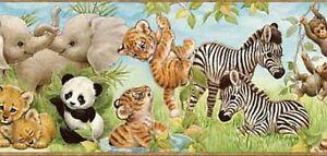 Wallpaper-Border-Jungle-Pals-Tiger-Panda-Zebra-Monkey