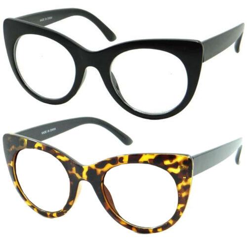 Womens Retro Nerd Clear Lens Fashion Cat Eye Geek Glasses 50/'s 60/'s Style