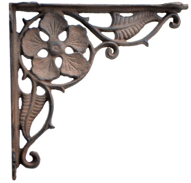 Vintage Antique Style Ornate Cast iron Wall Shelf Bracket  Set Of 2