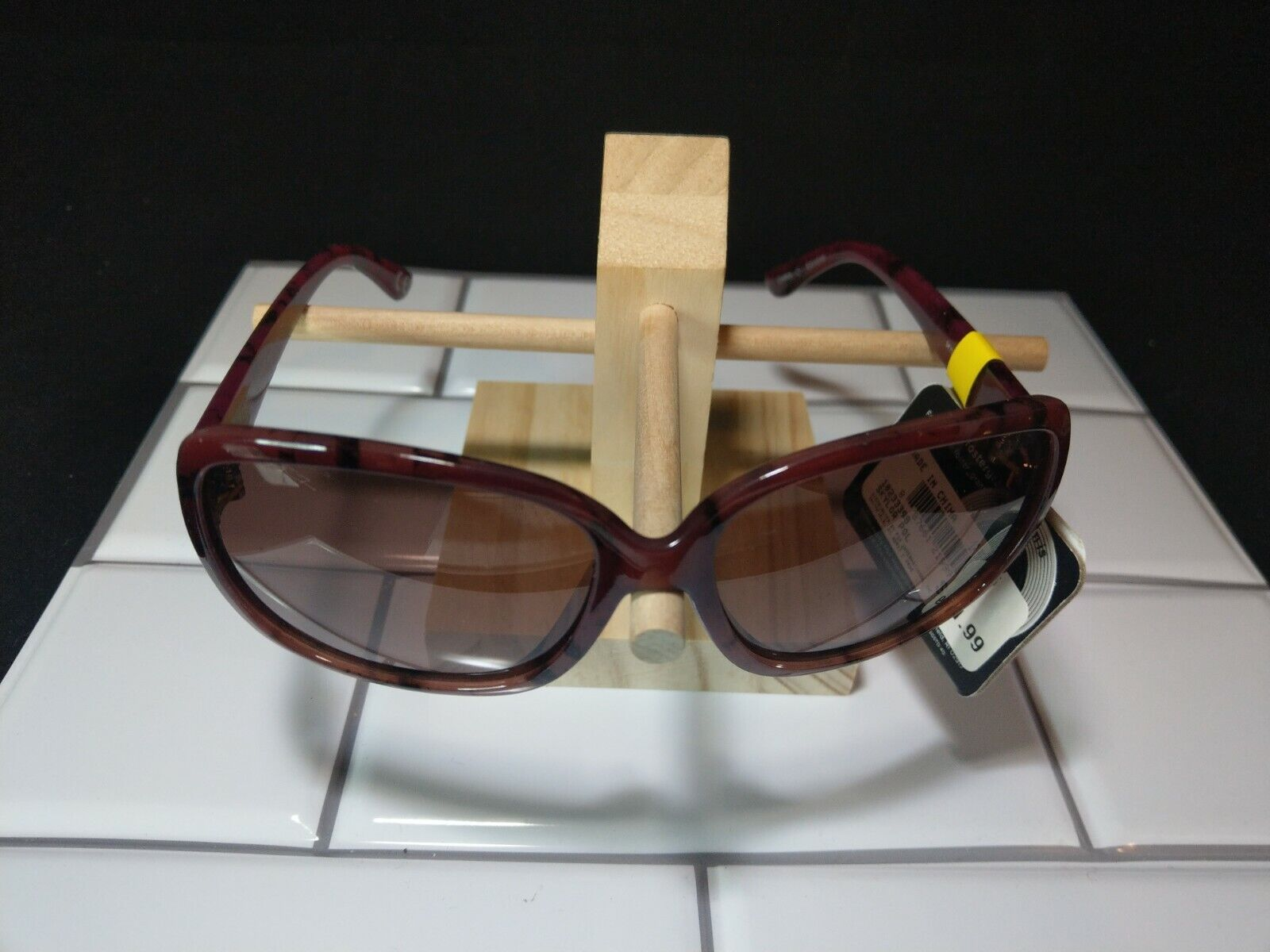 FOSTER GRANT Tortoiseshell Oversized Sunglasses POLARIZED 100% UVA UVB PROTECT