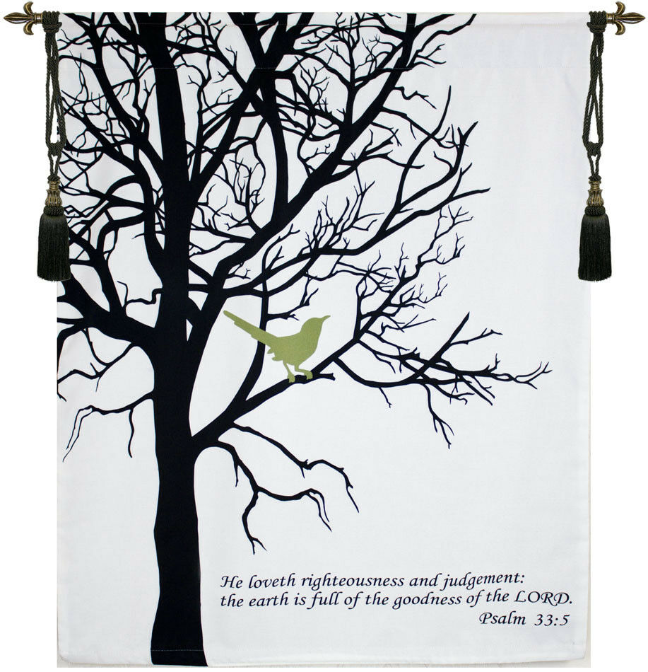 Bird with Verse Fine Art Tapestry