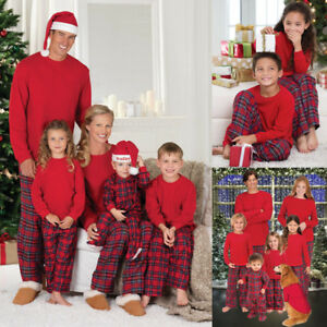 image is loading xmas family matching christmas pajamas set womens menskids - Matching Pjs Christmas