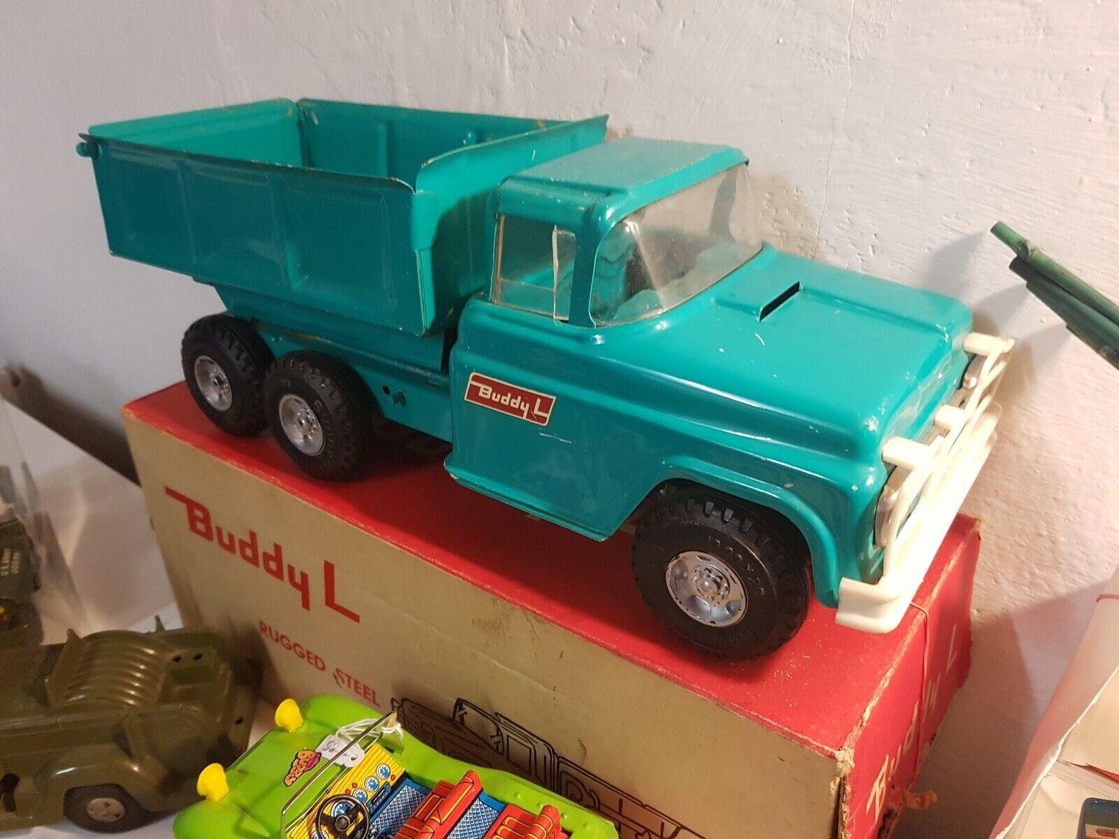 Tin Toy, camion in lamiera BUDDY-L anni 60, USA, in condizioni nuove con scatola