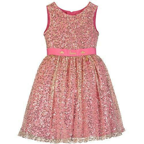 Le Ragazze Abito da sera Boutique Disney Aurora Bella Addormentata rosa e oro con paillettes