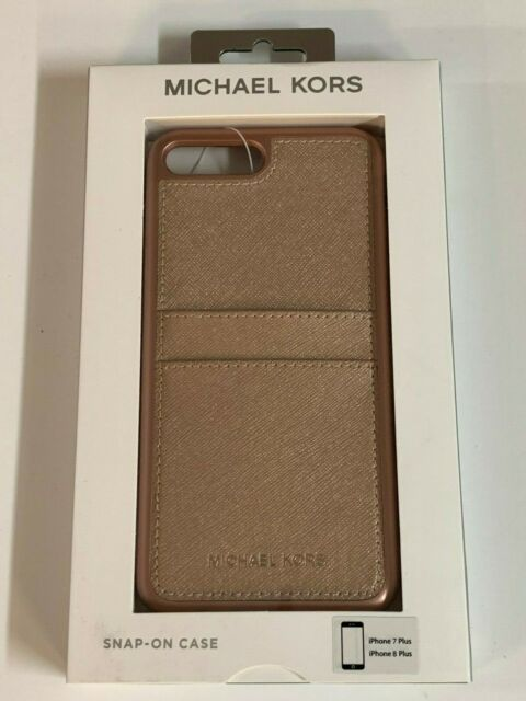 timeless design dce2a 9b338 Michael Kors Saffiano Leather Case for iPhone 7 Plus iPhone 8 Plus Rose gold