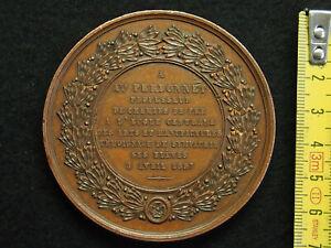 MEDAILLE-CUIVRE-CAQUE-F-1857-a-Auguste-PERDONNET-Prof-des-CHEMINS-DE-FER-68mm