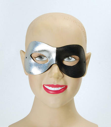 Silver Black Eye Mask Superhero Venetian Masquerade Ball Halloween Fancy Dress