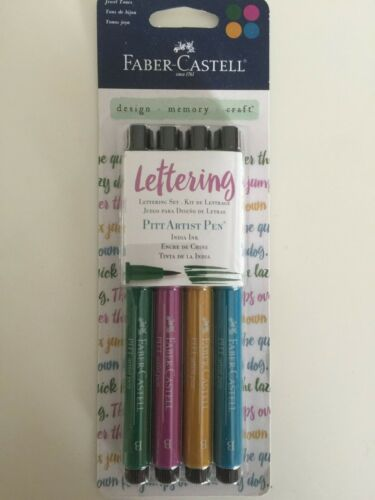Faber Castell Lettering Artist Pen 4pc set  Multiple Assortments  You Choose NEW