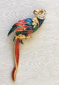 Vintage-parrot-Bird-Brooch-Pin