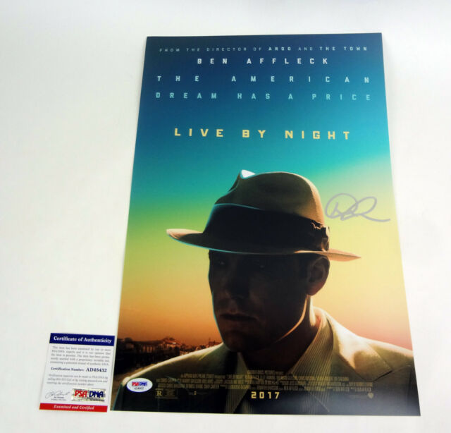 Dennis Lehane Author Signed Autograph Live By Night Movie Poster PSA/DNA COA #1