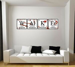Image Is Loading Walking Dead Walker Zombies Periodic Table Gift Repositionable