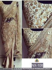 Beautiful Bollywood Designer Party Wear Stylish Blouse  Saree