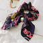 Solid-Floral-Bow-Scrunchie-Hair-Band-Elastic-Hair-Ties-Rope-Scarf-Accessories thumbnail 21