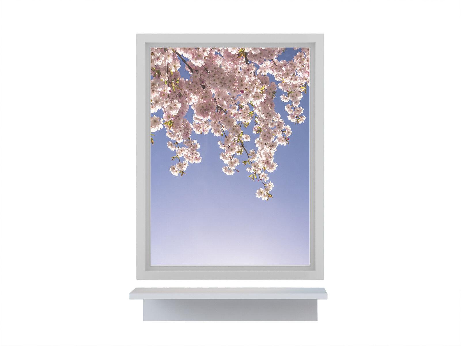 Fensterbild Frühling Kirsche Blüte Blüte Blüte Milchglasfolie (Sichtschutz) wiederablösbar | Großartig  1b15c3