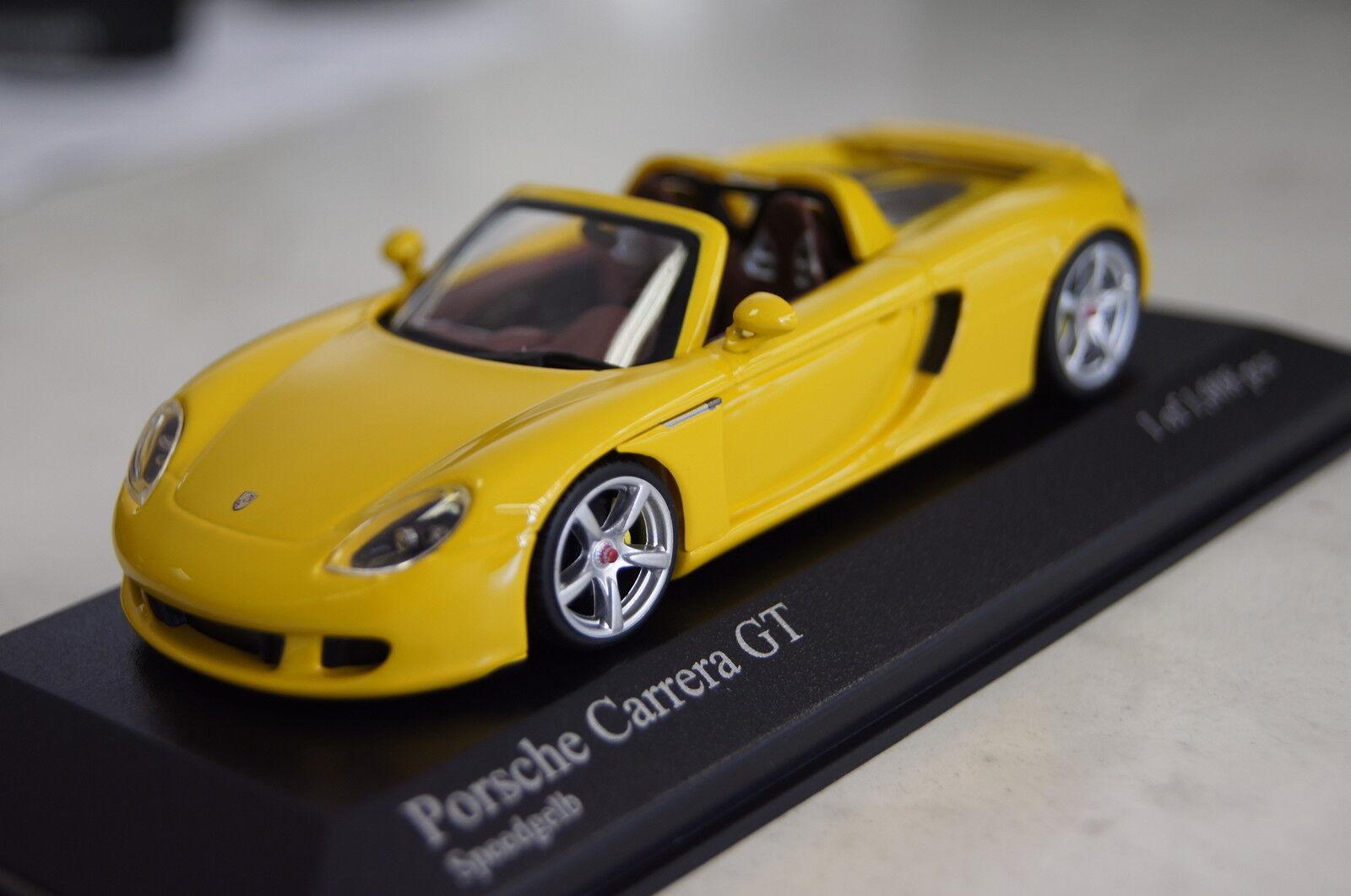 Porsche Carrera GT 2003 yellow 1 43 43 43  Minichamps neu & OVP 400062634 f51029