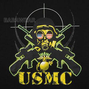 military usmc tshirt american flag marine corps sniper