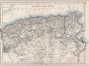 1921 MAP ALGERIA TUNIS CONSTANTINE ALGER TUNISIA CABLES eBay