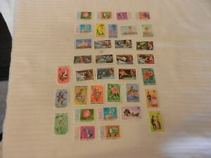 Lot-of-35-Maldive-Islands-Stamps-Weather-Mail-Flowers-Space-Boy-Scouts