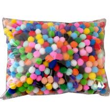 2000x DIY Mixed Color Fluffy Pom Poms Pompoms Ball 10mm for Kids Craft Am3rs