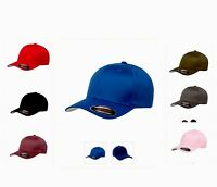 ORIGINAL PLAIN FLEXIFIT CLASSIC BASSBALL CAPS HATS IN MULTIPLE COLOURS