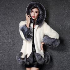 Women Thicken Faux Fox Fur Coat Jacket Long Parka Outwear Outcoat USPS US Stock