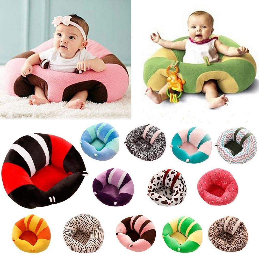 New Kids Baby Support Seat Sit Up Chair Cushion Sofa Plush Pillow Toy Bean Bag