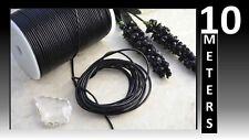 10 Metros De Cuero Real 2 mm negro Cable de cadena Tanga De Encaje Collar Joyas hágalo usted mismo