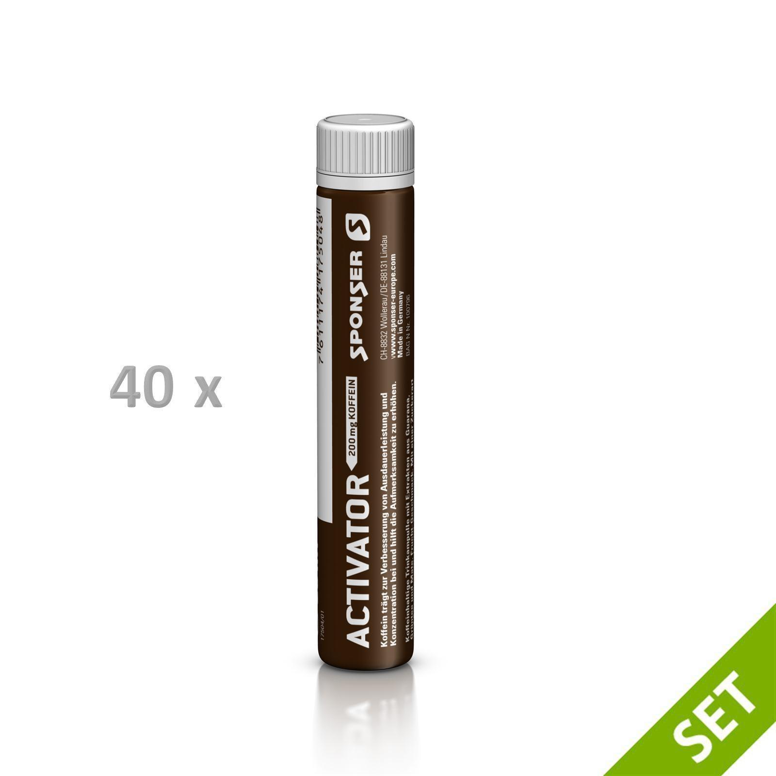 Sponser 40x25ml ACTIVATOR 200 40x25ml Sponser Röhrchen SPARSET Energy Koffeein Fitness 1b9b81