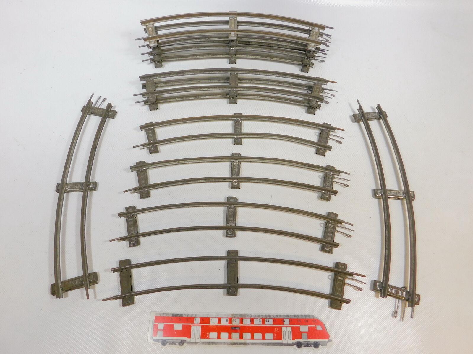 CD511-2  12x Märklin Spur 0 Gleis gebogen 12er 12 er Kreis für Uhrwerk-Betrieb
