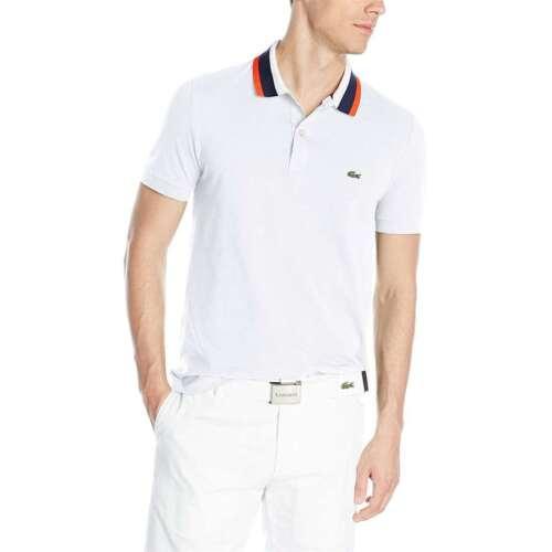 Lacoste Men/'s NEW Mini Pique Regular Fit 100/% Cotton Button Front Polo T-Shirt