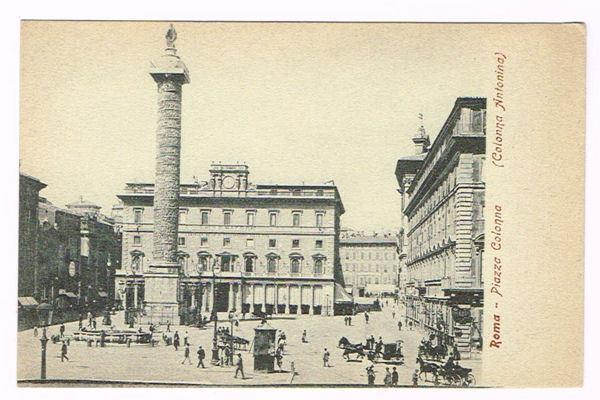 Vintage Postcard Italy 1900 ROMA ROME PIAZZA COLONNA ...